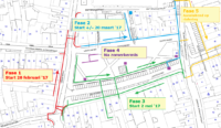 Kaart planning nutsleidingen Grote Markt