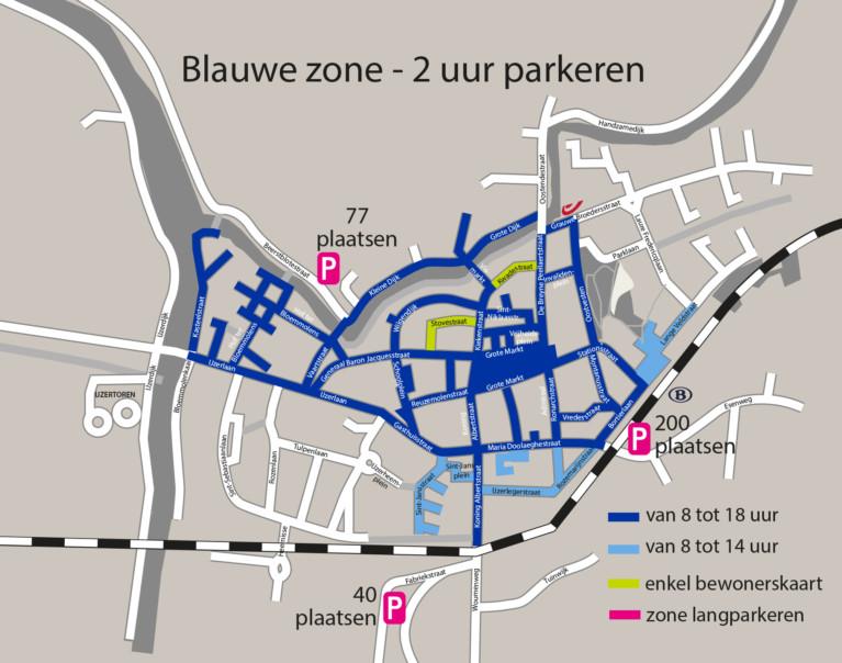 Kaart parkeersysteem