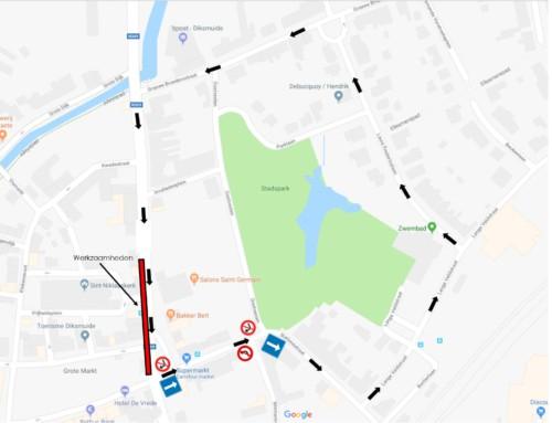 De Breyne Peellaertstraat afgesloten in één rijrichting op 5&6/04